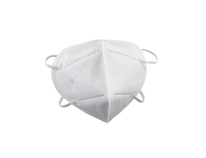 white respirator front view image