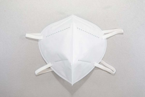 Respirator With Headstrap front view